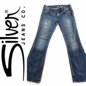 Silver Jeans Frances Bootcut Jeans, Size 27